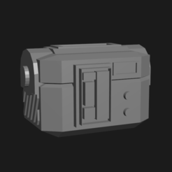 space crateeee.png Télécharger fichier STL Space Crate (pièce de terrain miniature d'opéra spatial de science-fiction de 28 mm) • Design pour impression 3D, davewoodrum