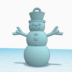 Snowmanic.png Download free STL file Holiday Snowman Ornament • 3D printable template, davewoodrum