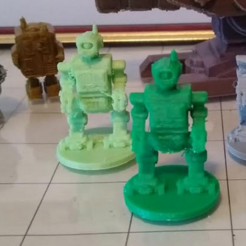 labor bot printed.png Download STL file Labor Bot (28mm space opera/sci fi role playing miniature) • 3D printer design, davewoodrum