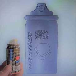 IMG_20200902_155759_1.jpg Download free STL file Montana spray can keychain • 3D printable model, phatcros
