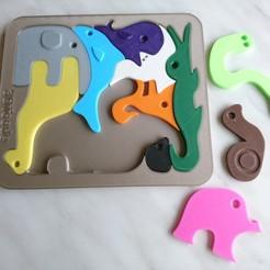 DSC_1347.JPG Download STL file Animals puzzle • 3D printable model, 3DPrintsBuilds