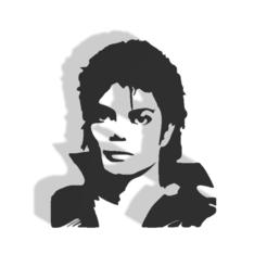 MICHEL JACKSON v1.png Télécharger fichier STL 3d imprimé Michael Jackson • Objet pour imprimante 3D, printex