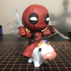 IMG_9352.jpg Descargar archivo STL gratis Unicorn Deadpool - Marvel • Plan imprimible en 3D, ZMilab
