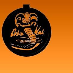 colgante cobra kai.jpg Télécharger fichier STL gratuit pendentif cobra kai • Plan pour imprimante 3D, ideasyconfecciones3d