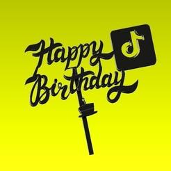 happy2.jpg Download STL file topper happy cake • 3D print model, ideasyconfecciones3d