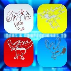 pokemones legendarios.jpg Download STL file COOKIE CUTTERS AND LEGENDARY POKEMON DOUGH • 3D printer design, ideasyconfecciones3d