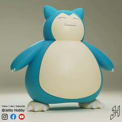 Snorlax1.JPG Download free STL file Snorlax (1/25 Scale Pokemon) 2.0 • 3D printing template, JettoHobby