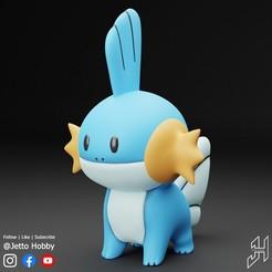 Mudkip1.jpg Télécharger fichier STL gratuit Mudkip (Pokémon à l'échelle 1/5) • Objet à imprimer en 3D, JettoHobby