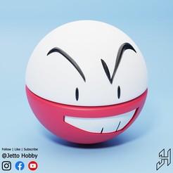 Electrode.jpg Télécharger fichier STL gratuit Électrode (Pokémon à l'échelle 1/20) • Modèle pour impression 3D, JettoHobby