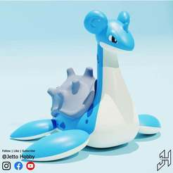 Lapras1.jpg Télécharger fichier STL gratuit Lapras (Pokémon à l'échelle 1/30) • Design imprimable en 3D, JettoHobby