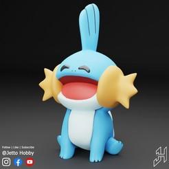 Mudkip2.jpg Télécharger fichier STL Mudkip STL set (Pokemon à l'échelle 1/5) • Design à imprimer en 3D, JettoHobby
