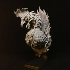 goyo_works_130288994_3835021509862600_8935112929670230258_n.jpg Download STL file Monster Hunting Trophy - Cockatrice • 3D printing template, goyoworks