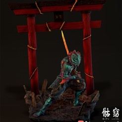 m1.jpg Télécharger fichier STL Collection de démons - Démon Samurai • Plan à imprimer en 3D, goyoworks