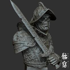 """2.jpg Télécharger fichier STL Collection de morts-vivants """"Ghoul Warrior"""" (en anglais) • Objet imprimable en 3D, goyoworks"""