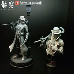 p2.jpg Download STL file 'Riddler the Ripper' & bust • 3D printing design, goyoworks