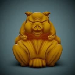 Pig-Print-01.jpg Download STL file Cute Flying Pig • 3D print template, LaloBravo