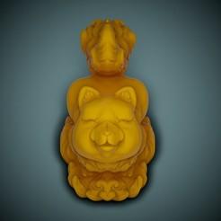 Fox-Print-01.jpg Download STL file Cute Fox • Template to 3D print, LaloBravo