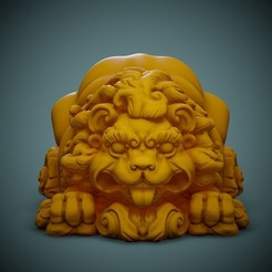 Lion-Print-01.jpg Download free STL file Cute Lion • 3D print object, LaloBravo