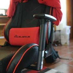DSC_0081.JPG Download STL file Sharkoon Elbrus 2 Gaming Chair - Armrest extension • 3D printing model, bring3d