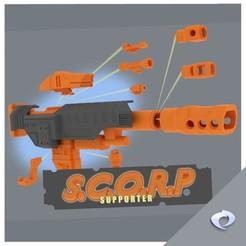 scorps001.jpg Télécharger fichier STL Le pack de soutien du S.C.O.R.P. • Design imprimable en 3D, CJI