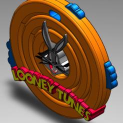 Sin título1.png Download free STL file Looney Tunes Logo (key ring) • 3D printable design, Soloen3d