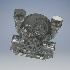 013_Volkswagen_013.jpg Télécharger fichier STL Moteur Volkswagen moulé sous pression 1/64 • Objet pour imprimante 3D, PWLDC