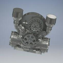 013_Volkswagen_013.jpg Download STL file Volkswagen Engine Diecast 1/64 • Template to 3D print, PWLDC