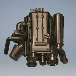 027_2JZGTe_Supra_027 (2).jpg Download STL file 2JZGTE Diecast Engine Toyota Supra 1/64 Scale • 3D printing model, PWLDC