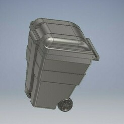 029_Trash_Bin_029.jpg Download STL file Trash Box Diecast 164 Scale • 3D printable model, PWLDC
