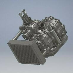 052_Engine_rotary13B_IDA_NON_FILTER_Mazda_RX_052 (2).jpg Download STL file 13B engine with 48mm IdaDiecast Engine 1/64 Mazda RX7 • 3D printer template, PWLDC
