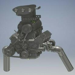 Gasser Bel Air 164 engine diecast (2).jpg Télécharger fichier STL Gasser Bel Air Diecast Engine 1/64 Scale • Plan pour imprimante 3D, PWLDC