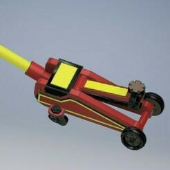 030_Jack_Hidraulic_030.jpg Download STL file Car Jack Diecast 1/64 Scale • Template to 3D print, PWLDC