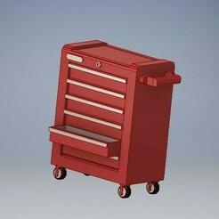 035_Drawer_tools_box_cabinet_035.jpg Download STL file Drawer Tools Cabinet Box Diorama Diecast 1/64 • Design to 3D print, PWLDC