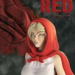 redFon.jpg Télécharger fichier STL Modèle d'impression 3d du Petit Chaperon rouge • Plan pour impression 3D, maxgivpro