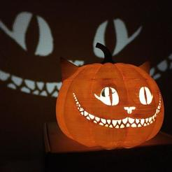 photo_2020-10-17_15-45-15.jpg Download STL file cheshire halloween pumpkin • 3D printable object, marcopolohernandez