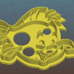 Flounder1.png Download OBJ file Flounder Cookie Cutter • 3D printable design, vishalkanhai82