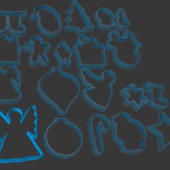 Screenshot 2020-12-29 222605.png Download STL file Christmas Cookie Cutter Set • 3D printer template, vishalkanhai82