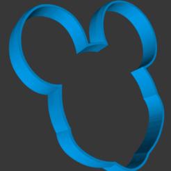 catalogue face outline.png Télécharger fichier STL Coupe-biscuits Mickey Mouse • Plan imprimable en 3D, vishalkanhai82