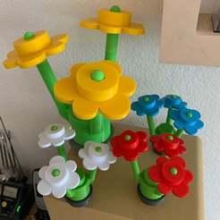 IMG_1529.jpeg Download STL file Large brick flower • 3D printable template, tbe0711
