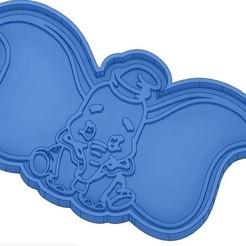 EMPORTE-PIECE DUMBO.jpg Télécharger fichier STL 2 Moules à Biscuit - Disney - Princesses - Mickey - Dingo - Bambi - Le roi lion - Pinocchio - Pluto - Frozen - Dumbo - Emporte-pièces - Cookie cutter- Coupe Biscuit • Objet à imprimer en 3D, cfl0