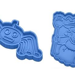 Sans titre 49.jpg Télécharger fichier GCODE Moules à Biscuit - Halloween - Sorcière - Citrouille - Fantôme - Araignée - Chauve-Souris - Emporte-pièces - Cookie cutter- Coupe Biscuit • Plan pour impression 3D, cfl0