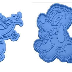 Sans titre 10.jpg Download GCODE file Biscuit Moulds - Disney - Princess - Mickey - Dingo - Bambi - The Lion King - Pinocchio - Pluto - Frozen - Dumbo - Cookie cutter - Cookie Cutter • Design to 3D print, cfl0