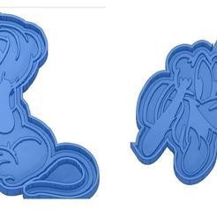 Sans titre 2.jpg Télécharger fichier GCODE Moules à Biscuit - Disney - Princesses - Mickey - Dingo - Bambi - Le roi lion - Pinocchio - Pluto - Frozen - Dumbo - Emporte-pièces - Cookie cutter- Coupe Biscuit • Objet pour imprimante 3D, cfl0