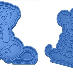 Sans titre 4.jpg Download GCODE file Biscuit Moulds - Disney - Princess - Mickey - Dingo - Bambi - The Lion King - Pinocchio - Pluto - Frozen - Dumbo - Cookie cutter - Cookie Cutter • Design to 3D print, cfl0