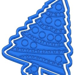 Sans titre 3.jpg Download GCODE file 2 CHRISTMAS BISCUIT MOULDS - SANTA CLAUS - SNOWMAN - FIR TREE - CHRISTMAS BALL - COOKIE CUTTER - COOKIE CUTTER - GIFT - REINDEER - COOKIE CUTTER- STENCIL • Template to 3D print, cfl0