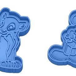 Sans titre 34.jpg Download GCODE file Biscuit Moulds - Disney - Princess - Mickey - Dingo - Bambi - The Lion King - Pinocchio - Cookie Cutter - Cookie cutter • Object to 3D print, cfl0