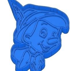 EMPORTE-PIECE PINOCCHIO.jpg Télécharger fichier GCODE 2 Moules à Biscuit - Disney - Princesses - Mickey - Dingo - Bambi - Le roi lion - Pinocchio - Pluto - Frozen - Dumbo - Emporte-pièces - Cookie cutter- Coupe Biscuit • Objet à imprimer en 3D, cfl0
