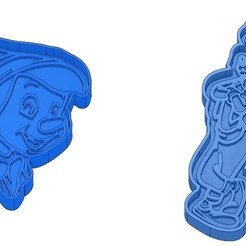 Sans titre 32.jpg Download GCODE file Biscuit Moulds - Disney - Princess - Mickey - Dingo - Bambi - The Lion King - Pinocchio - Cookie Cutter - Cookie cutter • Object to 3D print, cfl0