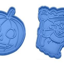 Sans titre 44.jpg Télécharger fichier GCODE Moules à Biscuit - Halloween - Sorcière - Citrouille - Fantôme - Araignée - Chauve-Souris - Emporte-pièces - Cookie cutter- Coupe Biscuit • Plan pour impression 3D, cfl0