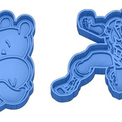 Sans titre 10.jpg Télécharger fichier GCODE Moules à Biscuit - Captain América - Superman -Spiderman - Winnie l'ourson - Winnie the pooh - Emporte-pièces - Cookie cutter- Coupe Biscuit • Design imprimable en 3D, cfl0